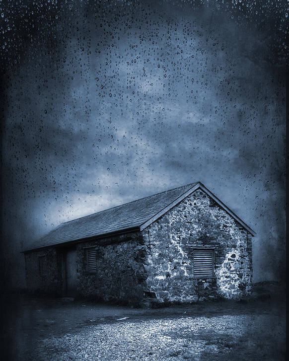 Abandoned Poster featuring the photograph Rain by Svetlana Sewell