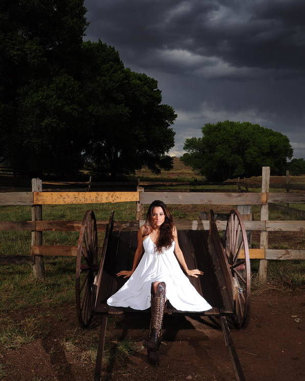 Ranch Poster featuring the photograph Ranch Woman On Wagon by Dale Davis