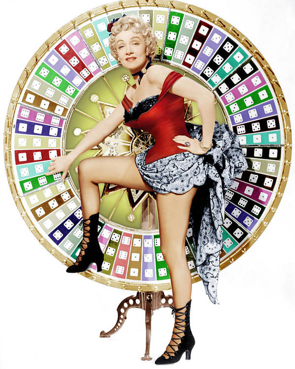 1950s Portraits Poster featuring the photograph Rancho Notorious, Marlene Dietrich, 1952 by Everett