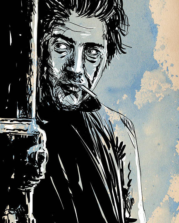 Dustin Hoffman Poster featuring the drawing Ratso Rizzo by Giuseppe Cristiano