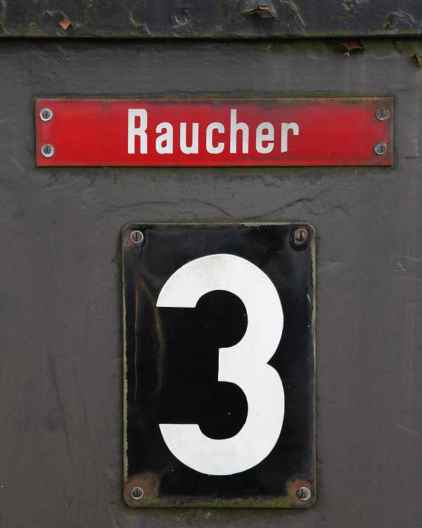 Altes Zugabteil Poster featuring the photograph Raucher by Falko Follert