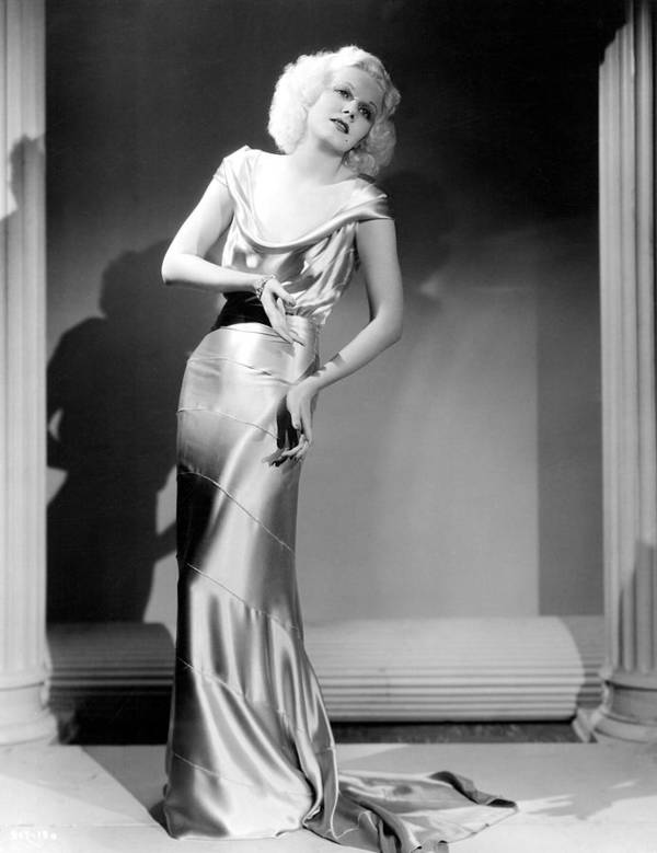 1930s Fashion Poster featuring the photograph Reckless, Jean Harlow, In A Dress by Everett