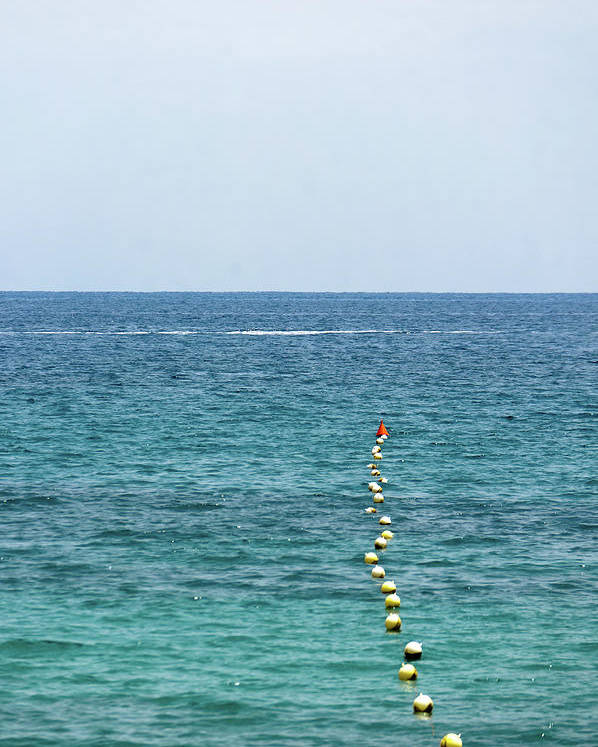 Vertical Poster featuring the photograph Red Buoy by Daniel Kulinski