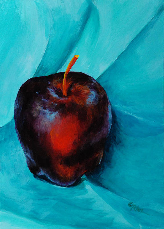 Apple Poster featuring the painting Red Delicious by Donna Pierce-Clark