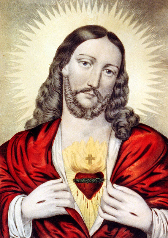 Jesus Poster featuring the photograph Red Heart by Munir Alawi