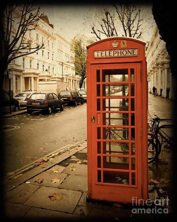 TRAVEL POSTER London Telephone Box