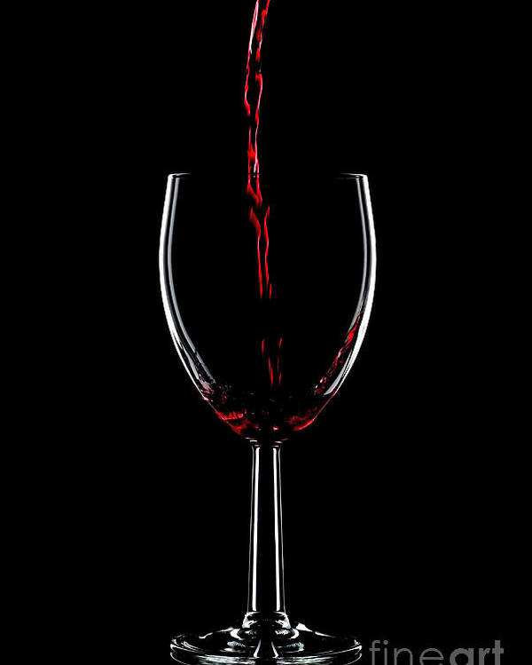 Red Poster featuring the photograph Red Wine Pouring by Richard Thomas