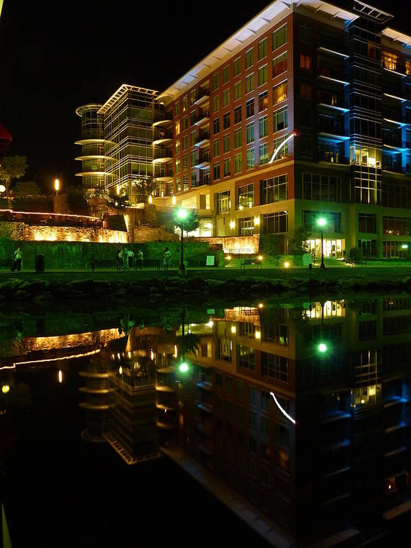 Greenville Poster featuring the photograph Reedy River View 7 by Craig Johnson