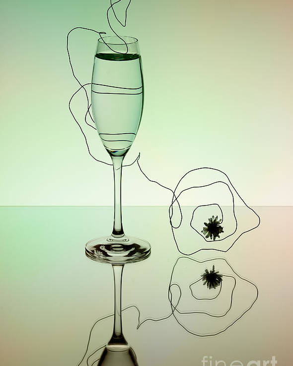 Glass Poster featuring the photograph Reflection 02 by Nailia Schwarz
