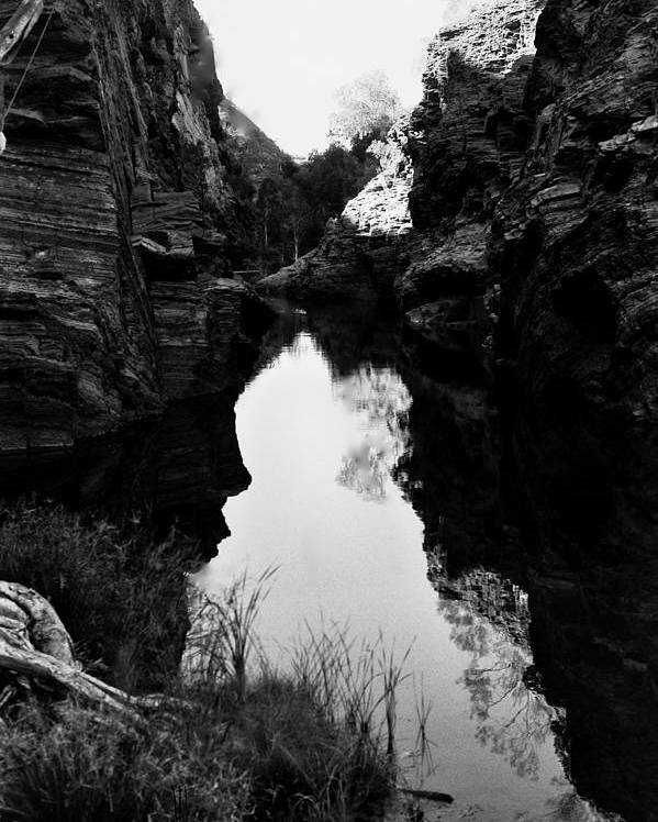 Black And White Landscape Poster featuring the photograph Reflections by Aaron Fisher