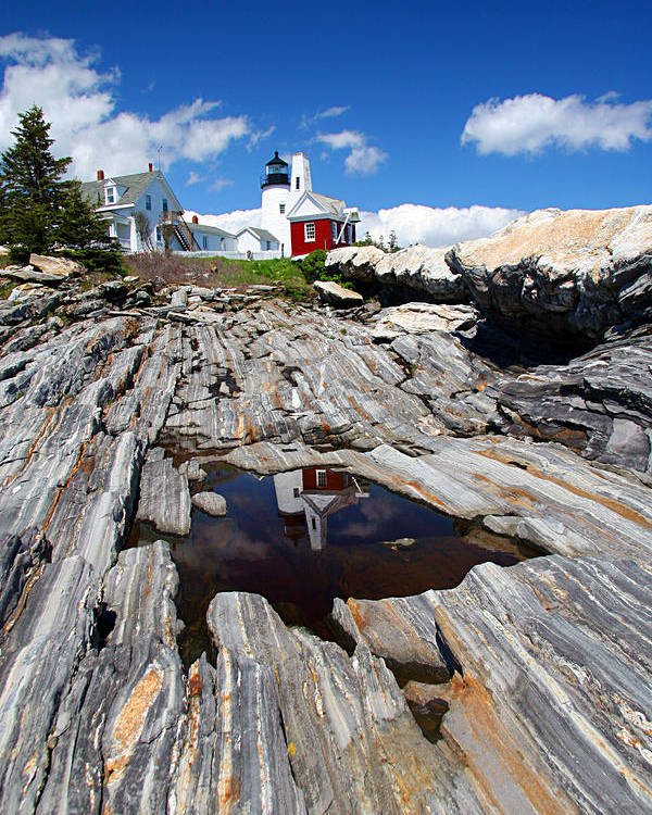 Lighthouse Poster featuring the photograph Reflections Of Pemaquid by Brenda Giasson