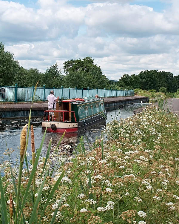 Landscape Poster featuring the photograph Relaxing On The Canal by Shirley Mitchell