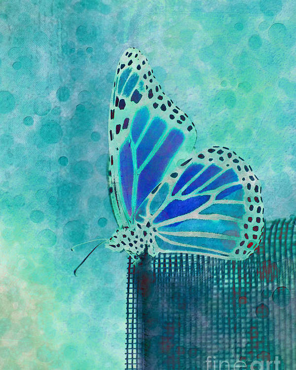 Butterfly Poster featuring the digital art Reve De Papillon - S02a2 by Variance Collections