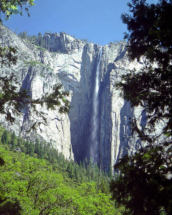 California Poster featuring the photograph Ribbon Falls by Rod Jones