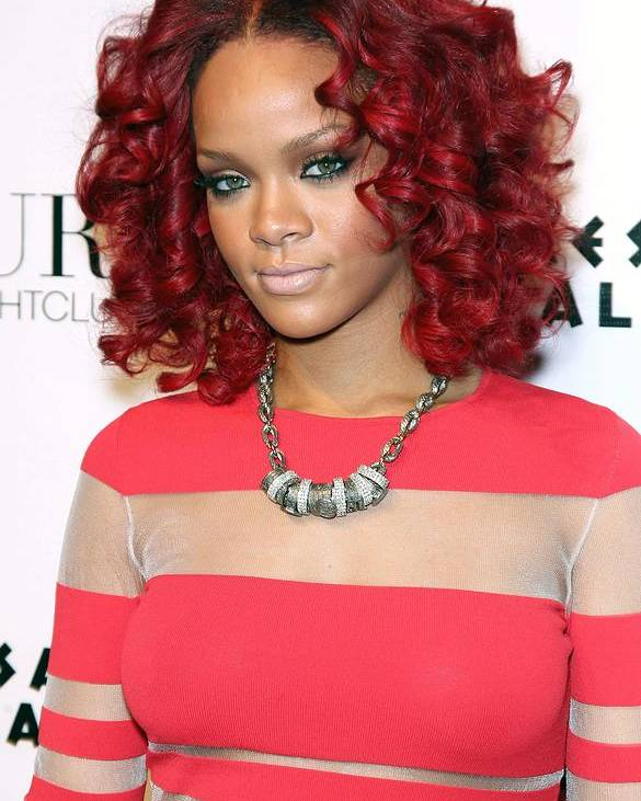 Rihanna Poster featuring the photograph Rihanna In Attendance For Rihanna New by Everett