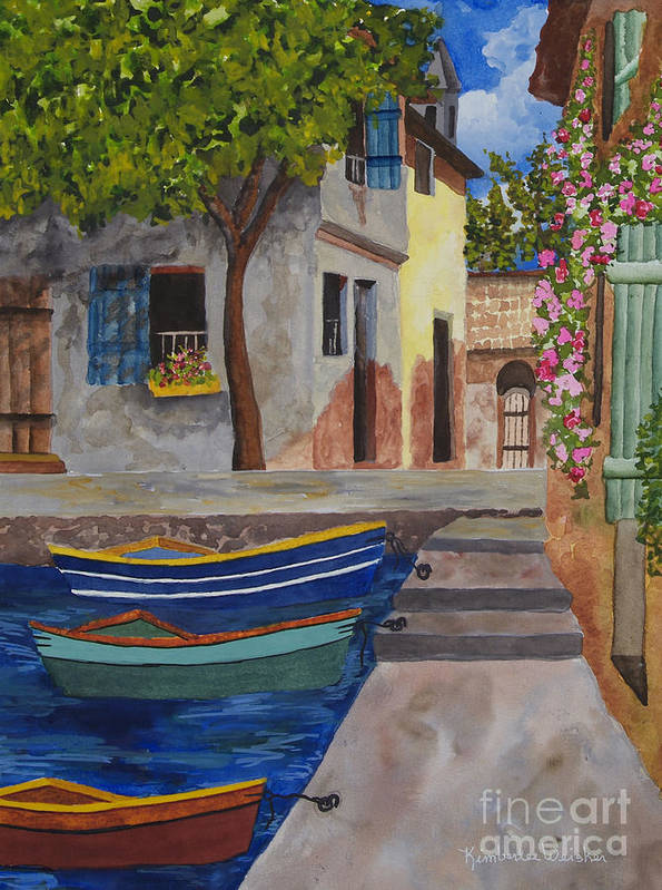 Harbour Poster featuring the painting Rio De Lucia by Kimberlee Weisker