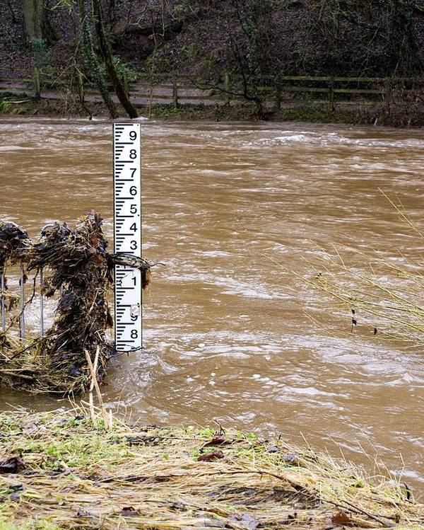 Appleby Poster featuring the photograph Rising River Level by Mark Williamson