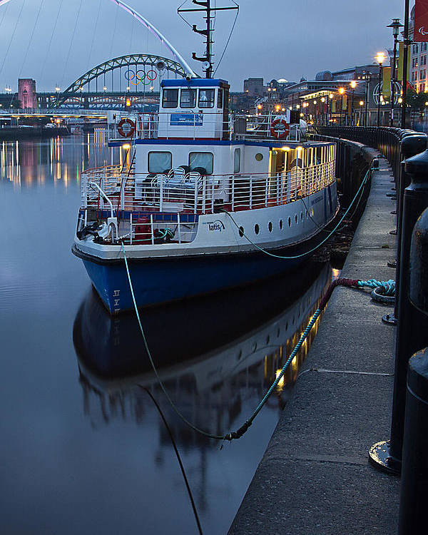 River Tyne Poster featuring the photograph River Tyne Cruise Ship by David Pringle
