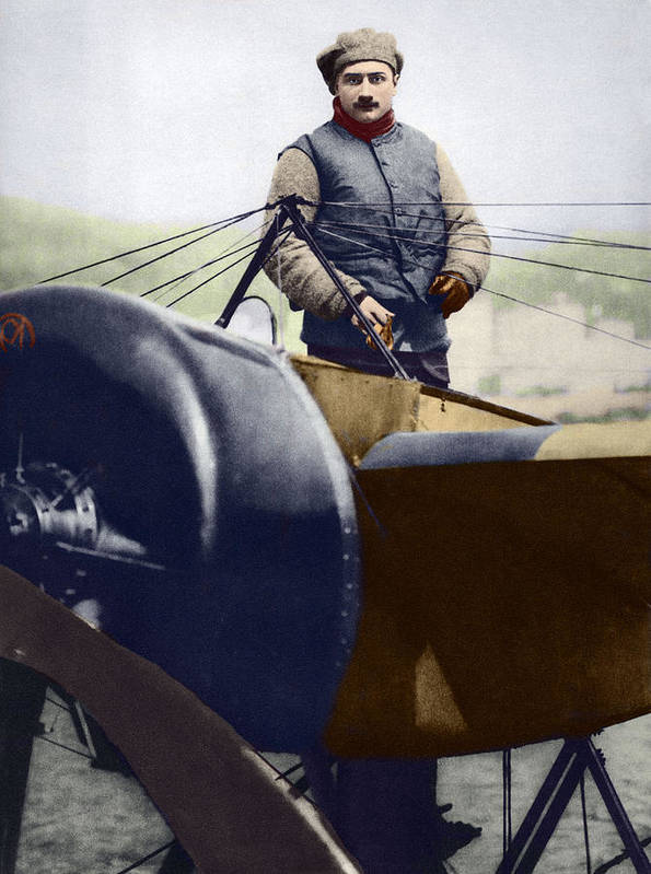 Roland Garros Poster featuring the photograph Roland Garros, French Aviator by Sheila Terry