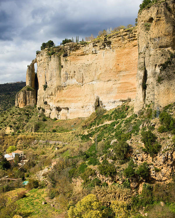 Andalucia Poster featuring the photograph Ronda Rock In Andalusia by Artur Bogacki