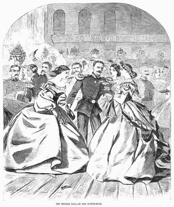 1863 Poster featuring the photograph Russian Visit, 1863 by Granger