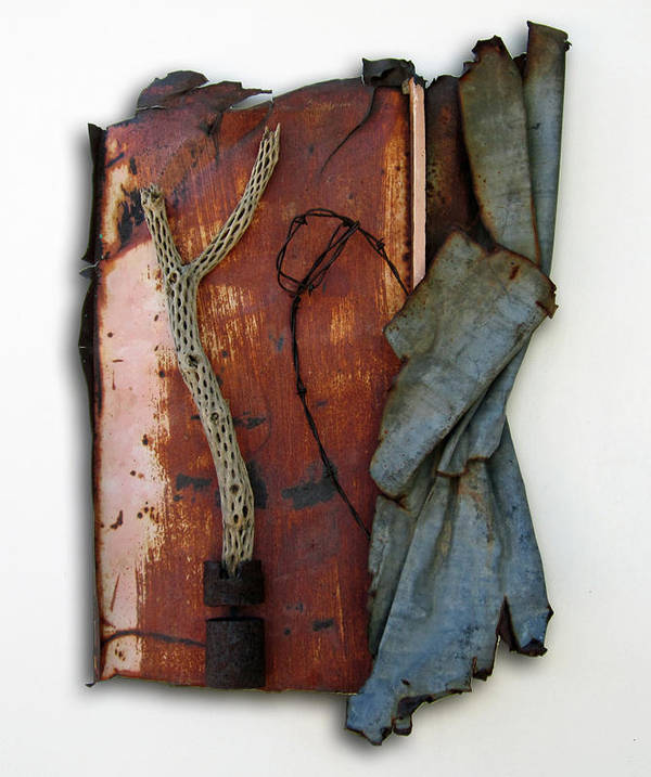 Assemblage Sculptures Poster featuring the sculpture Rustic Elegance by Snake Jagger