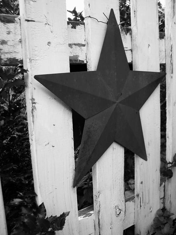 Star Poster featuring the photograph Rustic Star by Christina Thibert