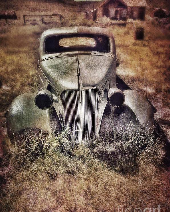 Car Poster featuring the photograph Rusty Car by Jill Battaglia
