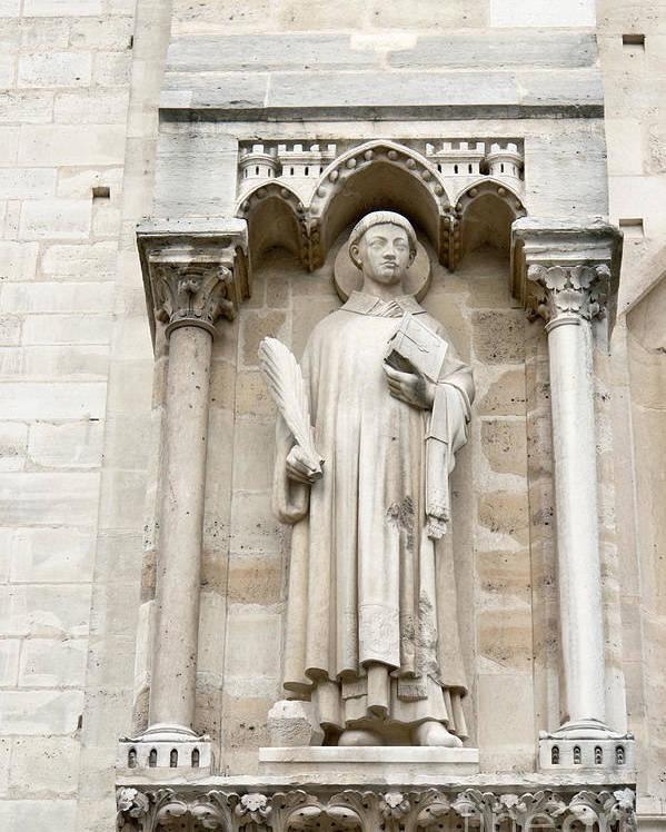 Saint Poster featuring the photograph Saint Stephen by Fabrizio Ruggeri