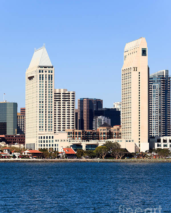 2012 Poster featuring the photograph San Diego Skyscrapers by Paul Velgos