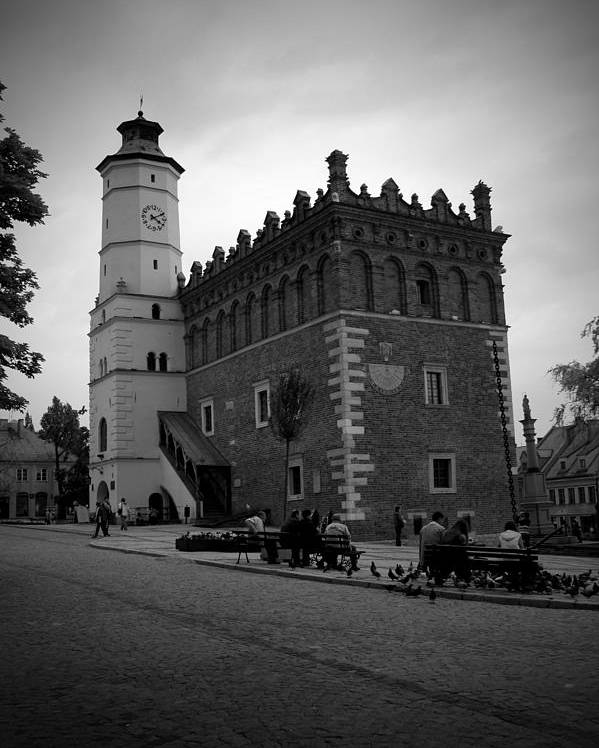 Sandomierz Poster featuring the photograph Sandomierz Bw by Kamil Swiatek