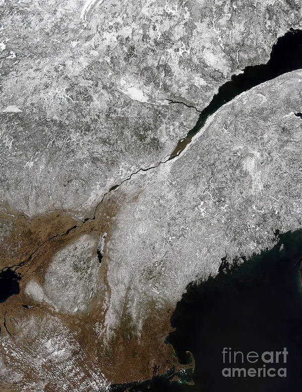Connecticut Poster featuring the photograph Satellite View Of A Frosty Landscape by Stocktrek Images