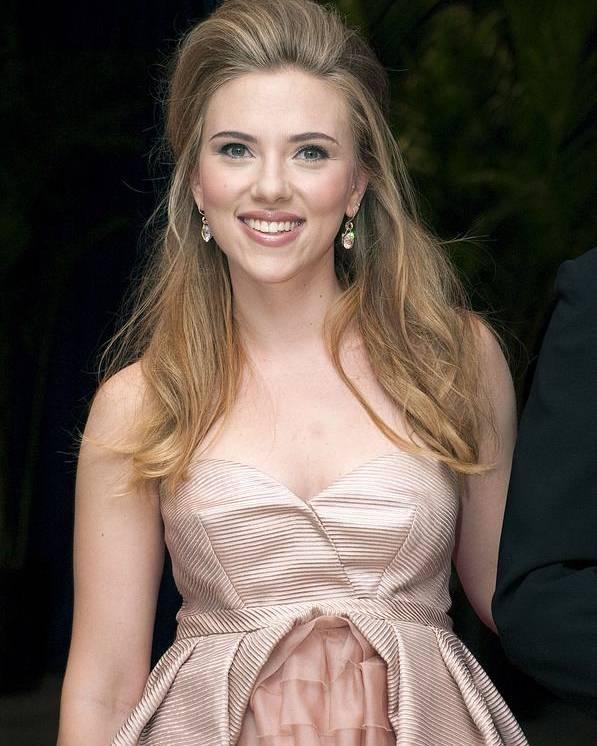 Scarlett Johansson Poster featuring the photograph Scarlett Johansson Wearing A Miu Miu by Everett