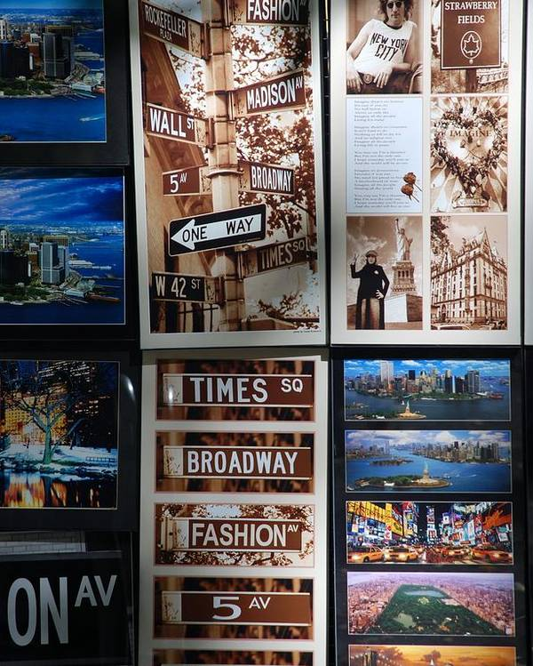 Black And White Poster featuring the photograph Scenes Of New York by Rob Hans