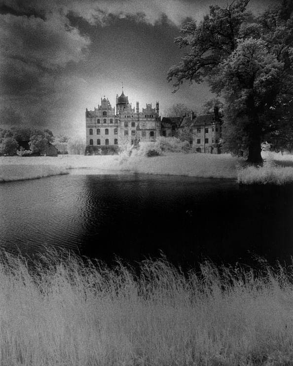 Halloween Poster featuring the photograph Schloss Basedow by Simon Marsden