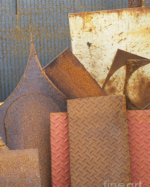 Building Materials Poster featuring the photograph Scrap Metal by Iain Sarjeant