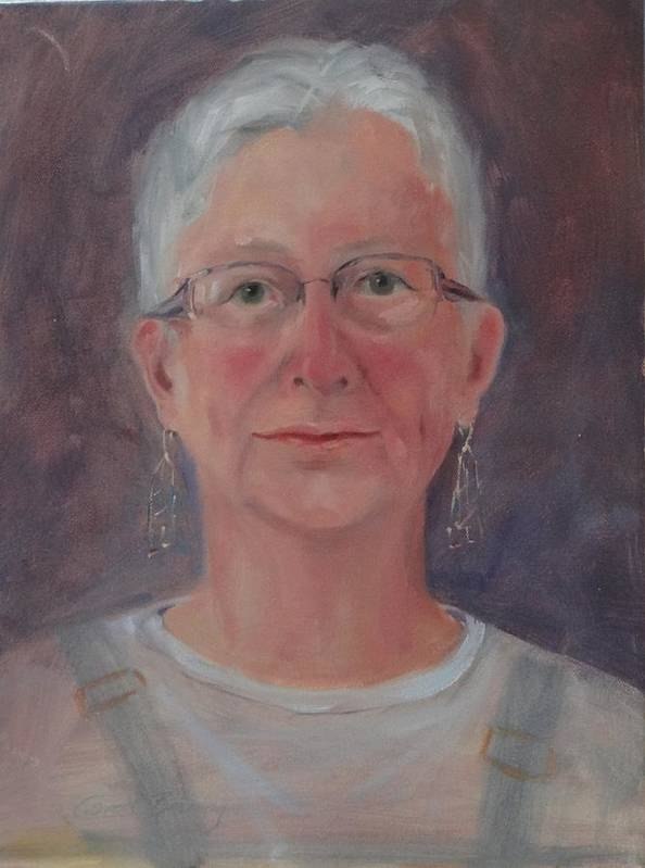 Self Portrait Poster featuring the painting Self by Carol Berning