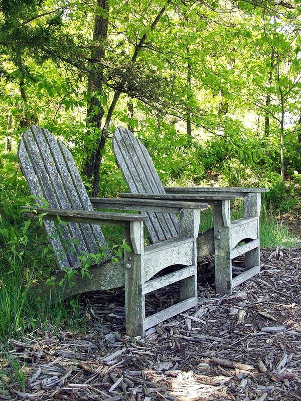 Lawn Chairs Poster featuring the photograph Sentimental by Carol Sweetwood