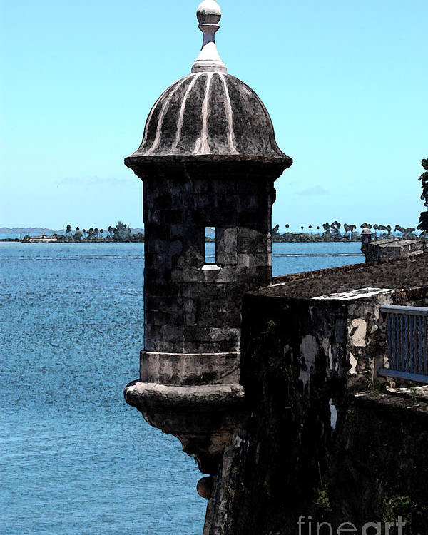 Poster Puerto Rico El Morro Fort