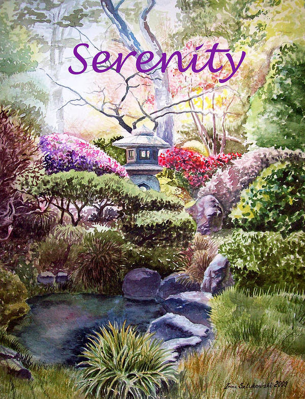 Affirmation Poster featuring the painting Serenity by Irina Sztukowski