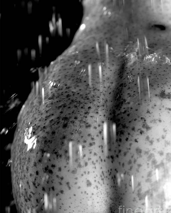 Provoking Poster featuring the photograph Sexy Pear Taking Shower by Igor Kislev