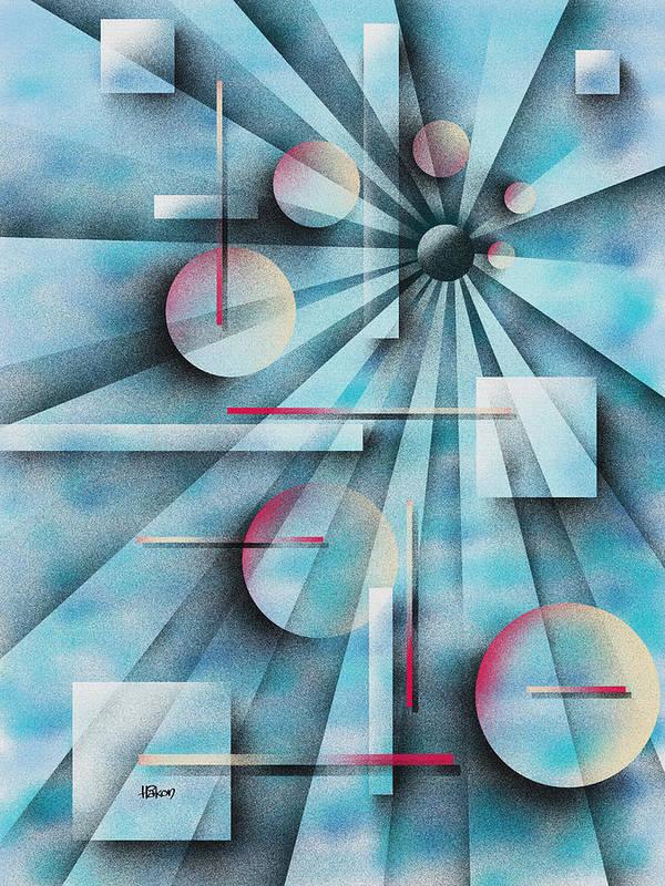 Digital Poster featuring the painting Shades Of Fibonacci by Hakon Soreide
