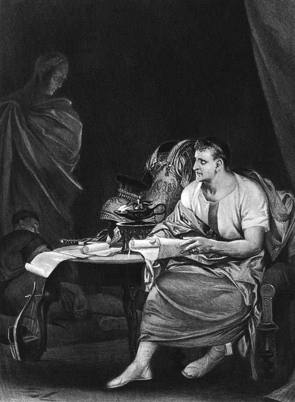 1599 Poster featuring the photograph Shakespeare: Julius Caesar by Granger