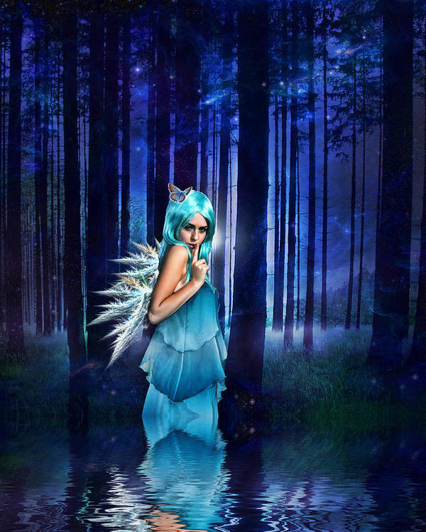 Fairies Poster featuring the digital art Shhhhh We Exist by Sharon Lisa Clarke