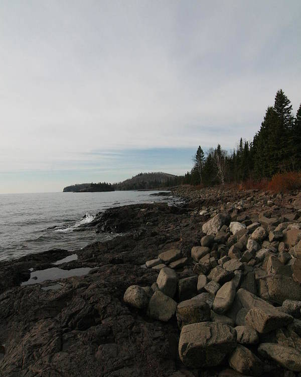 Lake Superior Poster featuring the photograph Shoreline by Rick Rauzi
