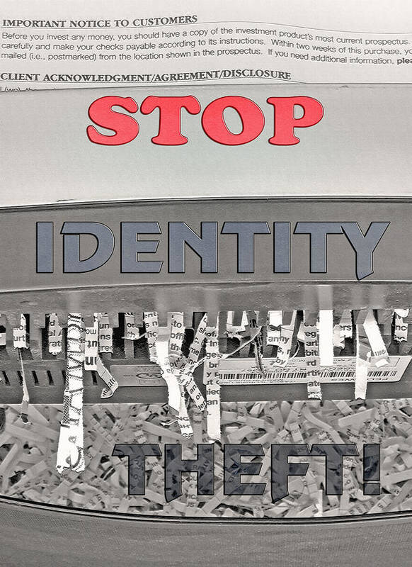Shred Poster featuring the photograph Shred Your Identity 2 by Steve Ohlsen