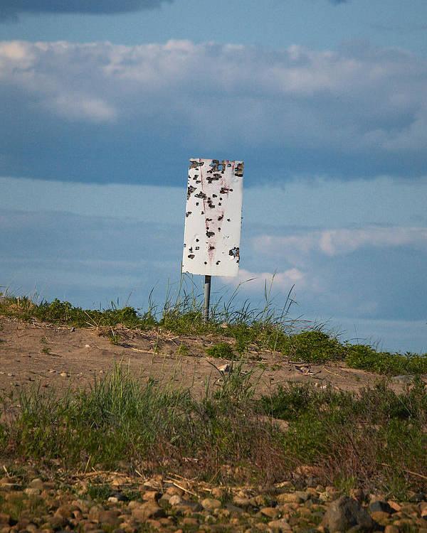 Jouko Lehto Poster featuring the photograph Sign At The Gulf Of Bothnia by Jouko Lehto
