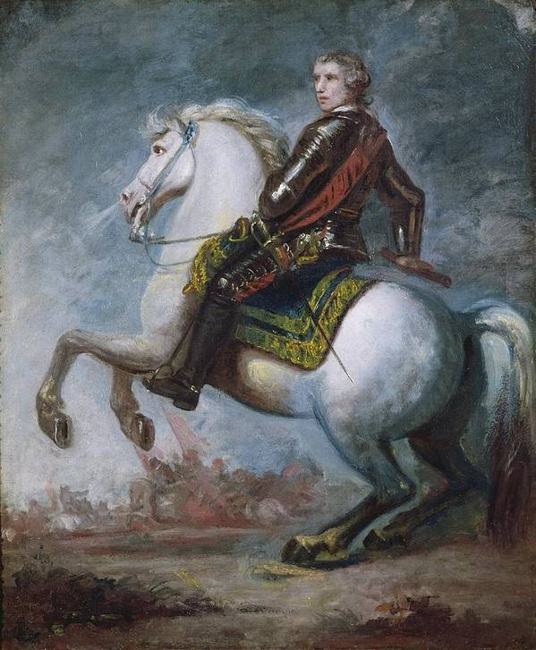 Sir Poster featuring the painting Sir Jeffrey Amherst by Sir Joshua Reynolds