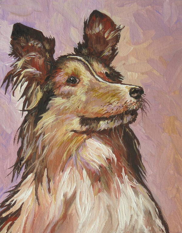 Dog Poster featuring the painting Sitting Pretty by Sandy Tracey