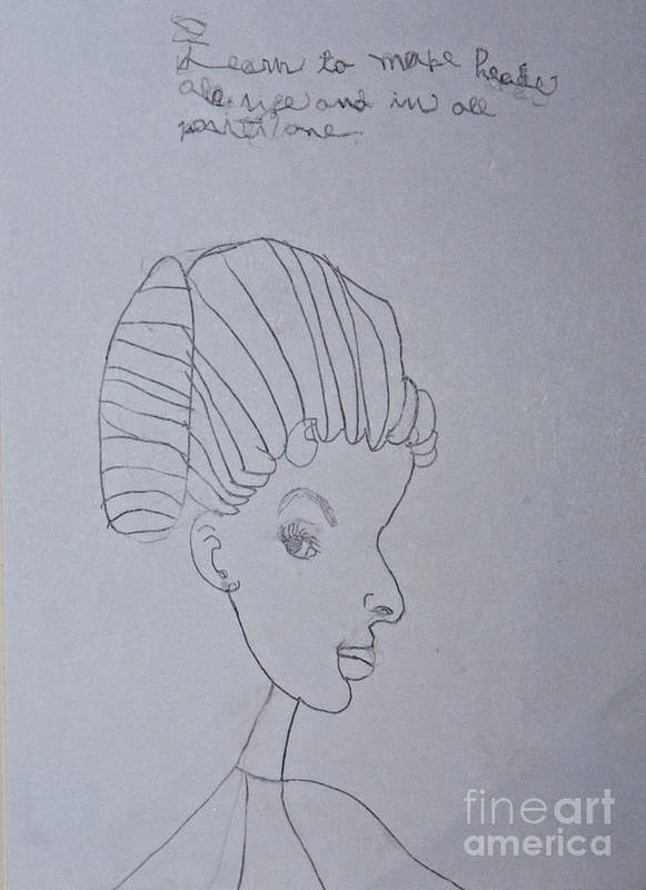Portrait Poster featuring the drawing Sketched Expression Series - Serene Pose by Stephanie Ward